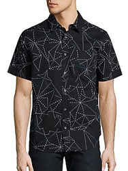 Madison Supply Geometric Printed Shirt Black