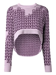 Opening Ceremony Elliptical Jumper Pink Purple