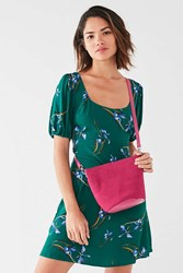 Urban Outfitters Millie Suede Bucket Crossbody Bag Pink