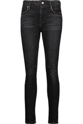 Rta Woman Monroe Distressed High Rise Skinny Jeans Black