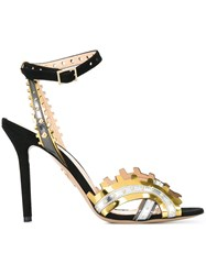 Charlotte Olympia Laser Cut Detail Sandals Black