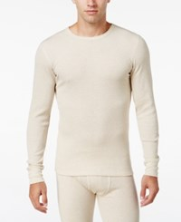 Alfani Men's Big And Tall Waffle Thermal Top Only At Macy's Oatmeal Heather B And T