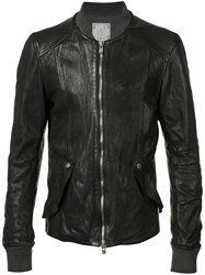 Guidi Bomber Jacket Men Horse Leather 50 Black