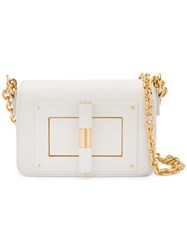 Tom Ford Flip Lock Shoulder Bag White
