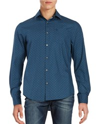 Original Penguin Dotted Cotton Sportshirt Blue Wing