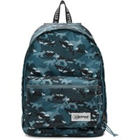 Maison Kitsune Blue Eastpak Edition Camo Out Of Office Backpack