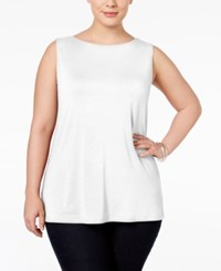 Inc International Concepts Plus Size Boat Neck Tank Top Only At Macy's Bright White