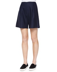 Mother Of Pearl Weston Pleated Wool Shorts