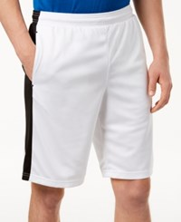 Ideology Id Men's Side Stripe 10 Knit Shorts Created For Macy's White