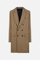 Ami Alexandre Mattiussi Classic Double Breasted Coat Nude And Neutrals