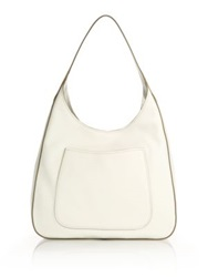 Prada Daino Leather Hobo Bag Talco Cammeo