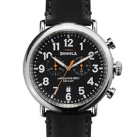 Shinola Runwell Chronograph 47Mm Watch Black