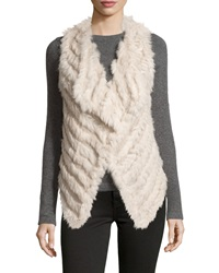 Neiman Marcus Rabbit Fur Cropped Vest Buff