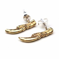 Tessa Metcalfe Gold Pigeon Claw Studs