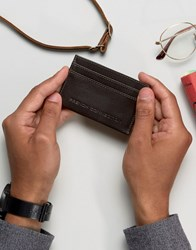 French Connection Leather Card Holder Brown