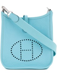 Hermes Vintage Evelyne Tpm Shoulder Bag Blue