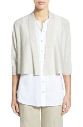 Women's Eileen Fisher Kimono Sleeve Crop Cardigan Maple Oat