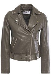 Muubaa Woman Manning Leather Biker Jacket Anthracite