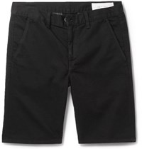 Rag And Bone Cotton Twill Shorts Black