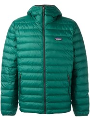 Patagonia Hooded Padded Jacket Green
