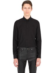 Saint Laurent Stripe Jacquard Cotton Poplin Shirt