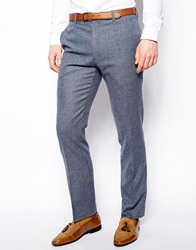 Reiss Broderick Suit Trousers Blue