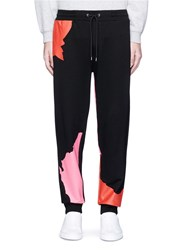 Mcq By Alexander Mcqueen Abstract Glyph Logo Print Sweatpants Black