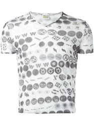Walter Van Beirendonck Vintage 'W ' Sheer Double Layered T White