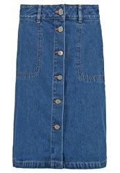 Stefanel Denim Skirt Original Blue Denim