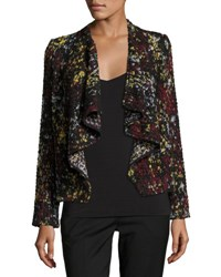 Ba And Sh Draped Front Boucle Jacket Black
