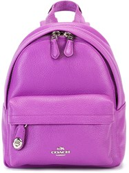 Coach Mini Front Pocket Backpack Pink Purple