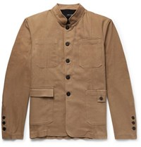 Isabel Benenato Stretch Cotton Twill Jacket With Detachable Gilet Sand