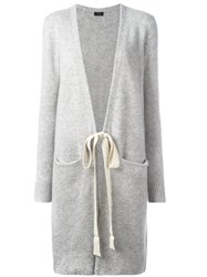 Joseph Tied Midi Cardigan Grey