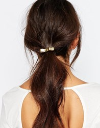Orelia Metal Bow Hairband Gold