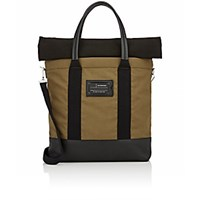 Balenciaga Men's Roll Top Shopper Tote Dark Green
