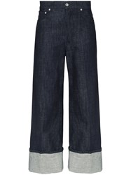J.W.Anderson Jw Anderson Turned Cuff Straight Leg Jeans Blue