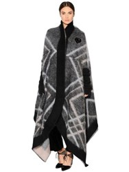 Giorgio Armani Wool And Mohair Jacquard Cape