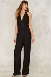 Nasty Gal Collection In The Evening Tuxedo Jumpsuit Black