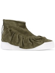 Joshua Sanders Hi Top Sneakers Women Calf Leather Leather Rubber 39 Green