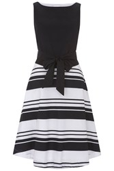 Havren Julia Cotton Belt Dress Black White Black White
