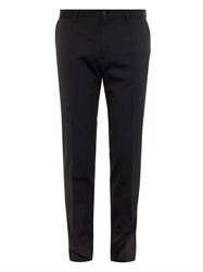 Dolce And Gabbana Dotted Stripe Stretch Wool Trousers