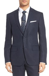 Nordstrom Men's Big And Tall Men's Shop Classic Fit Linen Blazer Navy
