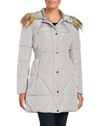 Jessica Simpson Faux Fur Trimmed Quilted Coat