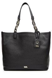 Karl Lagerfeld Grainy Leather Tote Bag Black