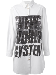 Marc By Marc Jacobs Graphic Print Shirt Dress White