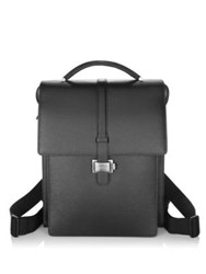 Montblanc Medium Leather Backpack Black