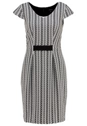 Comma Jumper Dress Grey Black