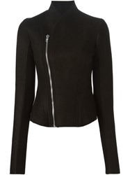 Rick Owens Lilies Stand Up Collar Jacket Black