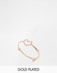 Verity By Alex Monroe Exclusive Heart Ring Rosegold