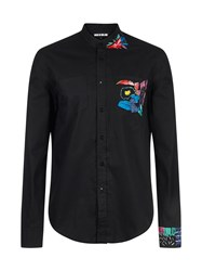 House Of Holland Embroidered Shirt Black
